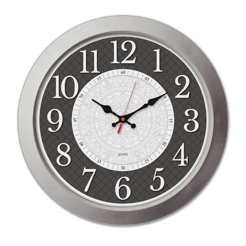 Настенные часы БЮРОКРАТ WallC-R67P, аналоговые, серебристый