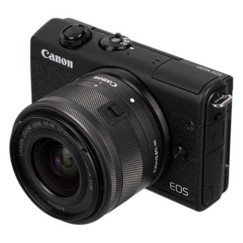 Фотоаппарат CANON EOS M200 kit ( 15-45 IS STM), черный [3699c010] фотоаппарат canon eos m200 kit 15 45 is stm black 3699c010