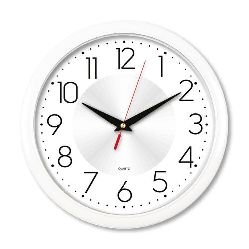 Настенные часы БЮРОКРАТ WallC-R69P, аналоговые, белый