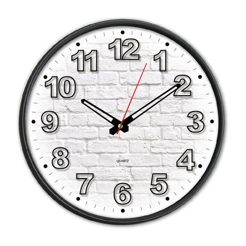Настенные часы БЮРОКРАТ WallC-R71P, аналоговые, черный