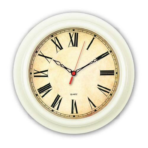 Настенные часы БЮРОКРАТ WallC-R74P, аналоговые, слоновая кость