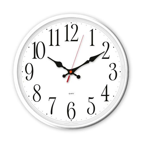 Настенные часы БЮРОКРАТ WallC-R75P, аналоговые, белый