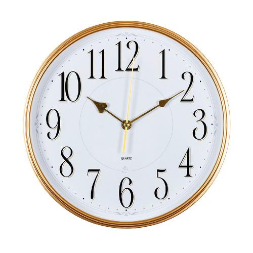 Настенные часы БЮРОКРАТ WallC-R76P, аналоговые, белый