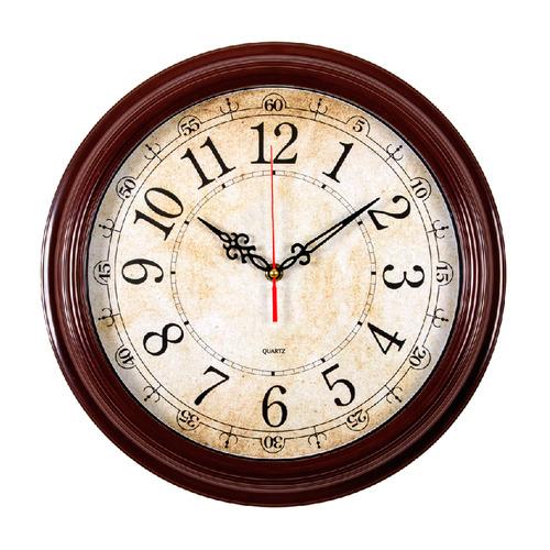 Настенные часы БЮРОКРАТ WallC-R77P, аналоговые, коричневый