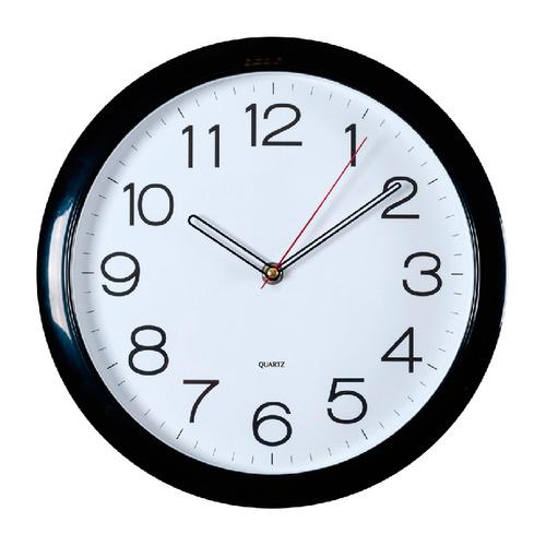Настенные часы БЮРОКРАТ WallC-R78P, аналоговые, черный