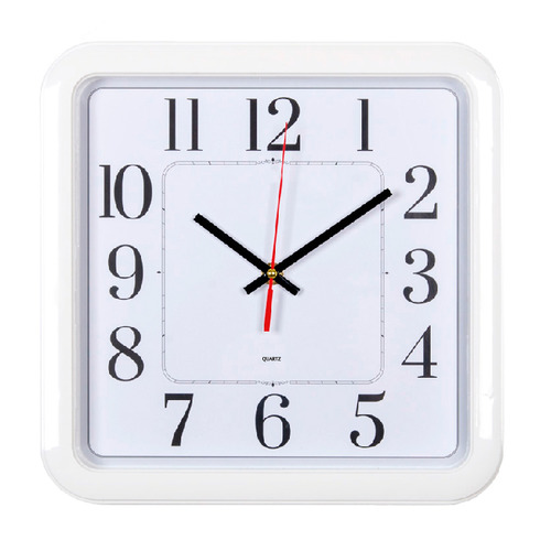 Настенные часы БЮРОКРАТ WallC-S79P, аналоговые, белый