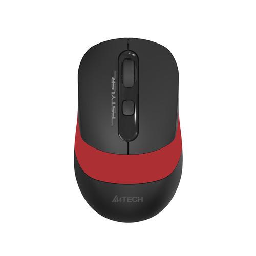 Мышь A4 Fstyler FG10, оптическая, беспроводная, USB, черный и красный [fg10 red] мышь беспроводная hp 200 silk золотистый чёрный usb 2hu83aa