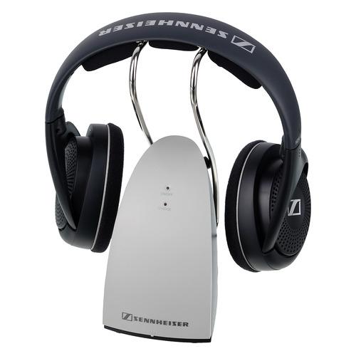 Наушники SENNHEISER RS 120-8 EU, радио, накладные, черный/серебристый [508681]