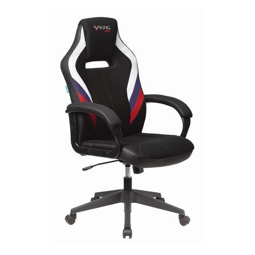 Кресло игровое ZOMBIE VIKING 3 AERO, на колесиках, искусственная кожа/ткань, белый/синий/красный/черный [viking 3 aero rus] недорого