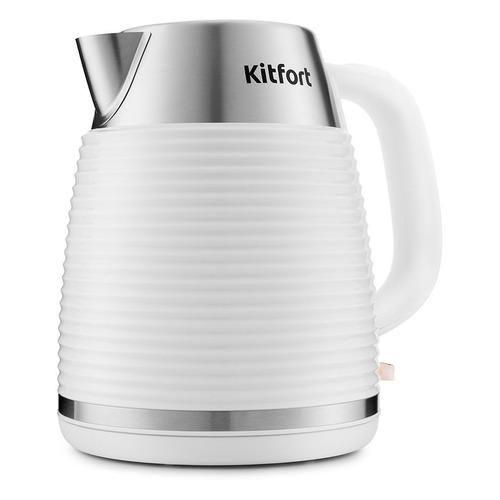 Чайник электрический KITFORT КТ-695-3, 2200Вт, белый