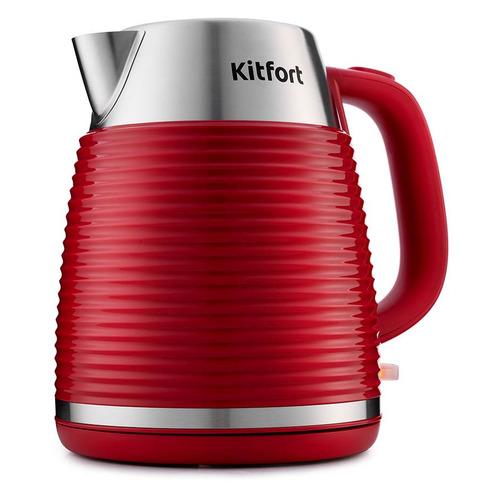 Чайник электрический KITFORT КТ-695-2, 2200Вт, красный