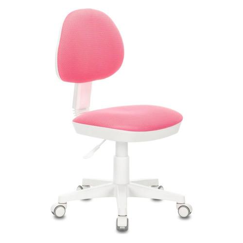 Кресло детское БЮРОКРАТ KD-3, на колесиках, ткань, розовый [kd-3/wh/tw-13a]