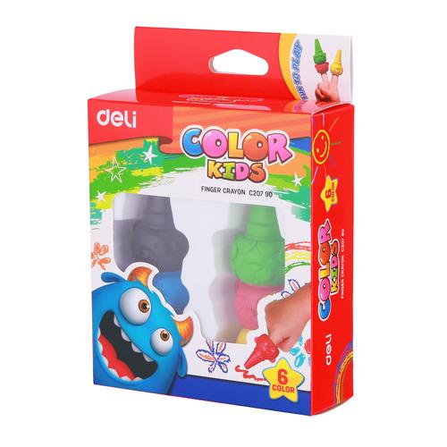 Упаковка мелков восковых DELI Color Kids EC20790 EC20790, 6 цветов 24 шт./кор. упаковка мелков восковых deli colorun ec20820 ec20820 24 цвета 12 шт кор
