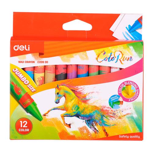 Упаковка мелков восковых DELI Colorun EC20900 EC20900, 12 цветов 12 шт./кор. упаковка мелков восковых deli colorun ec20820 ec20820 24 цвета 12 шт кор