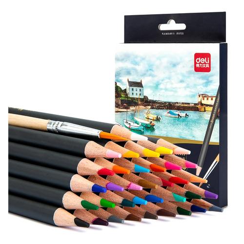 Фото - Упаковка карандашей цветных акварельных DELI 6519 6519, липа, 36 цв., коробка европодвес упаковка карандашей цветных акварельных deli 6522 6522 липа 36 цв коробка металлическая