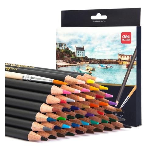 Фото - Упаковка карандашей цветных акварельных DELI 6520 6520, липа, 48 цв., коробка европодвес упаковка карандашей цветных акварельных deli 6522 6522 липа 36 цв коробка металлическая
