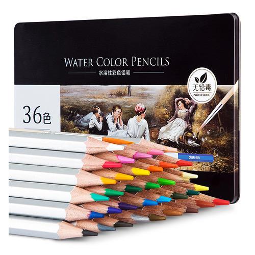Фото - Упаковка карандашей цветных акварельных DELI 6522 6522, липа, 36 цв., коробка металлическая упаковка карандашей цветных акварельных deli 6522 6522 липа 36 цв коробка металлическая