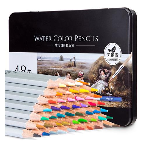 Фото - Упаковка карандашей цветных акварельных DELI 6523 6523, липа, 48 цв., коробка металлическая упаковка карандашей цветных акварельных deli 6522 6522 липа 36 цв коробка металлическая