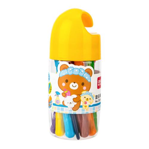 Фото - Упаковка пастели масляной DELI 72054 72054, 12 цветов 20 шт./кор. упаковка мелков восковых deli colorun ec20810 ec20810 18 цветов 24 шт кор
