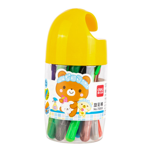 Фото - Упаковка пастели масляной DELI 72055 72055, 18 цветов 16 шт./кор. упаковка мелков восковых deli colorun ec20810 ec20810 18 цветов 24 шт кор
