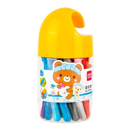 Упаковка пастели масляной DELI 72056 72056, 24 цвета 8 шт./кор. упаковка мелков восковых deli colorun ec20820 ec20820 24 цвета 12 шт кор