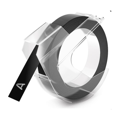 Фото - Картридж DYMO Omega, белый / черный / 9мм, белый шрифт, черный фон, 3м [s0898130] картридж brother dk22223 50мм черный шрифт белый фон 30м