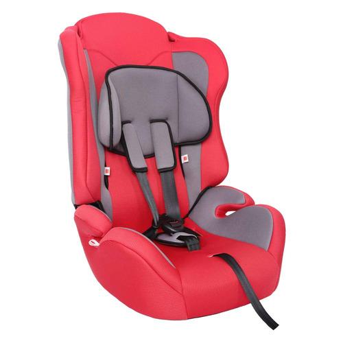 Автокресло детское ZLATEK Atlantic, 1/2/3, от 1 до 12 лет, красный/серый автокресло группа 1 2 3 9 36 кг little car ally с перфорацией черный