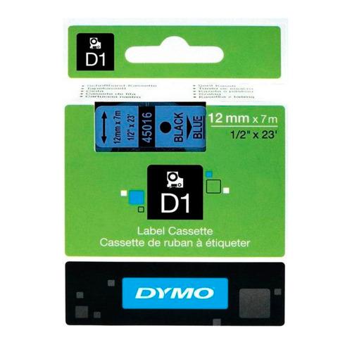 Картридж DYMO D1, голубой / черный / 12мм, черный шрифт, голубой фон, 7м [s0720560]