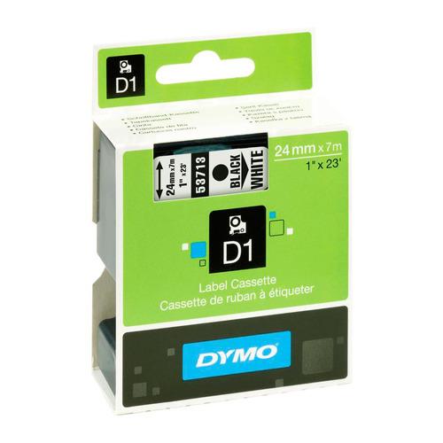 Фото - Картридж DYMO D1, черный / белый / 24мм, черный шрифт, белый фон, 7м [s0720930] картридж brother dk22223 50мм черный шрифт белый фон 30м