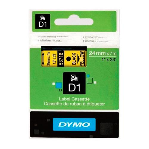 Картридж DYMO D1, черный / желтый / 24мм, черный шрифт, желтый фон, 7м [s0720980]
