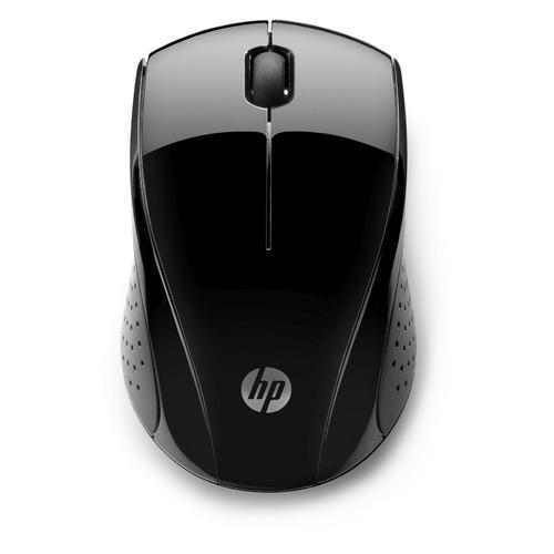 Мышь HP Wireless 220, оптическая, беспроводная, USB, черный [3fv66aa] мышь беспроводная hp 200 silk золотистый чёрный usb 2hu83aa