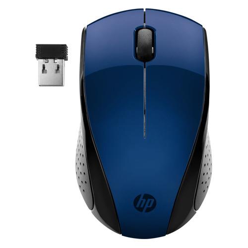 Мышь HP Wireless 220, оптическая, беспроводная, USB, синий [7kx11aa] мышь беспроводная hp 200 silk золотистый чёрный usb 2hu83aa