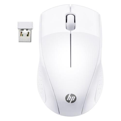 Мышь HP Wireless 220, оптическая, беспроводная, USB, белый [7kx12aa] мышь беспроводная hp 200 silk золотистый чёрный usb 2hu83aa