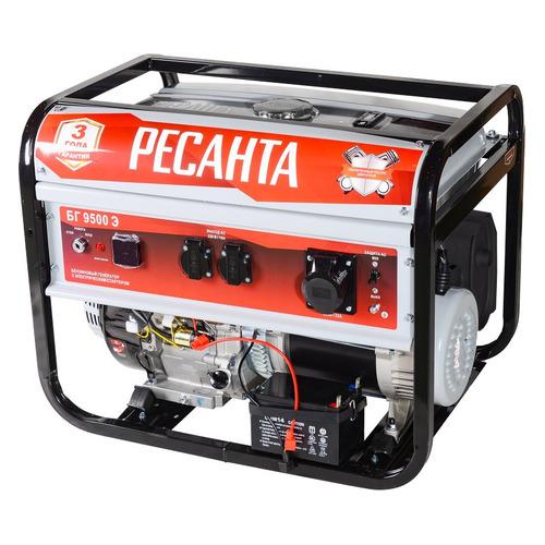 Бензиновый генератор Ресанта БГ 9500 Э, 220, 7.5кВт [64/1/49]