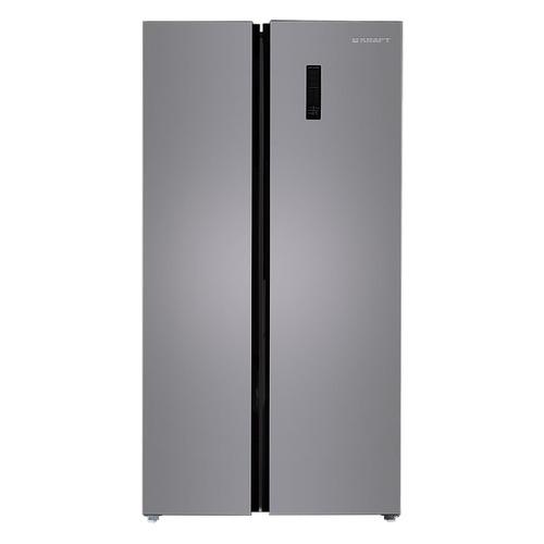 Холодильник KRAFT KF-MS2485X, двухкамерный, нержавеющая сталь встраиваемый холодильник side by side kuppersbusch kei 9750 0 2 t сталь