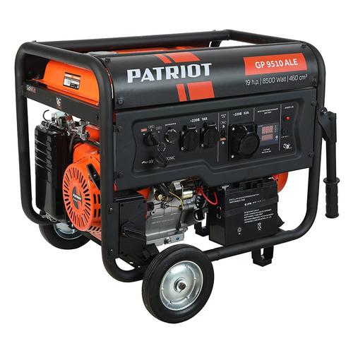 Фото - Бензиновый генератор PATRIOT GP 9510ALE, 220 В, 8.5кВт [474101805] бензиновый генератор patriot gp 6510le 5000 вт