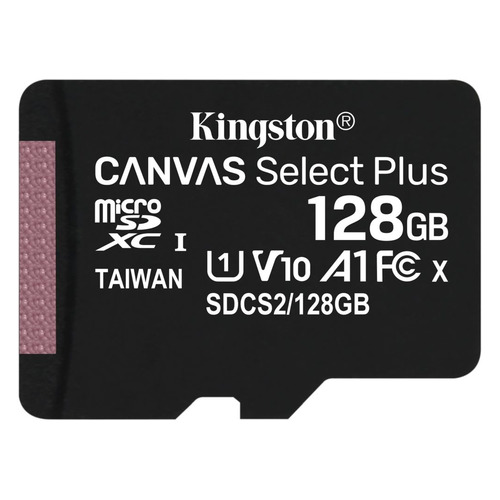 Фото - Карта памяти microSDXC UHS-I U1 KINGSTON Canvas Select Plus 128 ГБ, 100 МБ/с, Class 10, SDCS2/128GBSP, 1 шт. карта памяти microsdxc 128gb kingston class uhs i u3 v30 canvas go [sdcg2 128gbsp]