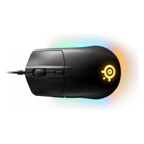 Фото - Мышь STEELSERIES Rival 3, игровая, оптическая, проводная, USB, черный [62513] мышь проводная steelseries rival 710 чёрный usb 62334