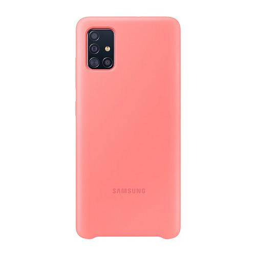 Чехол (клип-кейс) SAMSUNG Silicone Cover, для Samsung Galaxy A51, розовый [ef-pa515tpegru] цена в Москве и Питере