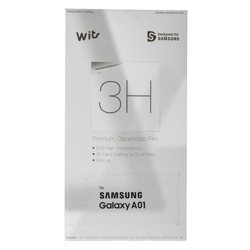 Защитная пленка для экрана SAMSUNG WITS для Samsung Galaxy A01, прозрачная, 1 шт [gp-tfa015wsatr] цена и фото