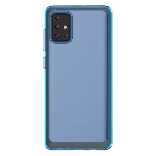 Чехол (клип-кейс) SAMSUNG araree A cover, для Samsung Galaxy A71, синий [gp-fpa715kdalr] чехол клип кейс samsung для samsung galaxy a71 araree a cover синий gp fpa715kdalr