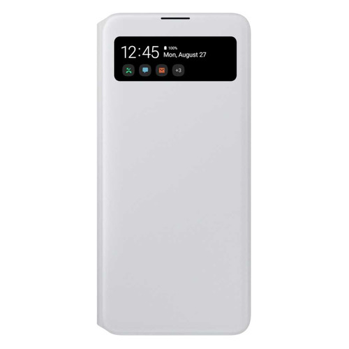 Чехол (флип-кейс) SAMSUNG S View Wallet Cover, для Samsung Galaxy A71, белый [ef-ea715pwegru]