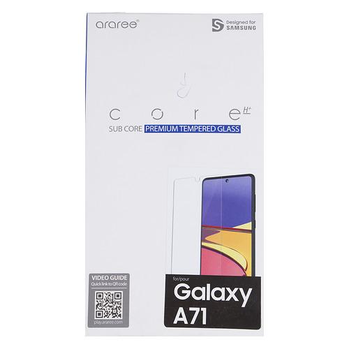 Защитное стекло для экрана SAMSUNG araree by KDLAB для Samsung Galaxy A71, прозрачная, 1 шт [gp-tta715kdatr] защитное стекло для экрана samsung araree by kdlab для samsung galaxy a30s прозрачная антиблик 1шт gp tta307kdatr