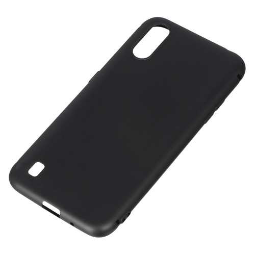 Чехол (клип-кейс) BORASCO для Samsung Galaxy A01, черный [38528]