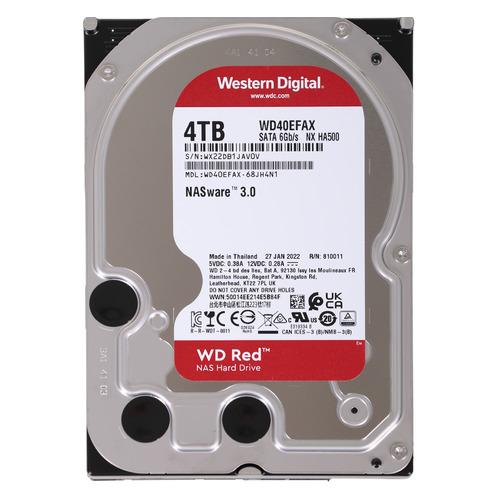 Жесткий диск WD Red WD40EFAX, 4ТБ, HDD, SATA III, 3.5