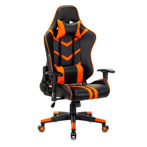 Кресло игровое БЮРОКРАТ CH-789N, на колесиках, искусственная кожа, черный/оранжевый [сн-789n/bl-or] цена 2017