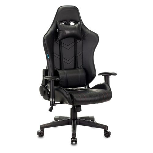 Кресло игровое БЮРОКРАТ CH-789N, на колесиках, искусственная кожа, черный [ch-789n/black] кресло бюрократ ch 1399 на колесиках искусственная кожа серый [ch 1399 grey]
