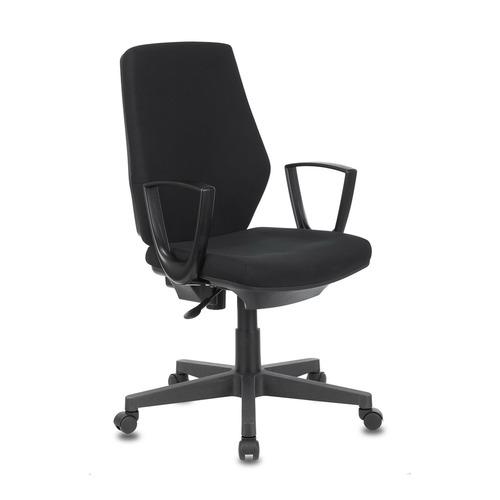 Кресло БЮРОКРАТ CH-545, на колесиках, ткань, черный [ch-545/26-28] кресло офисное персона persona доступные цвета обивки искусств чёрная кожа