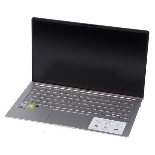 Ноутбук ASUS Zenbook UX433FN-A5358T, 14, Intel Core i5 8265U 1.6ГГц, 8ГБ, 512ГБ SSD, nVidia GeForce Mx150 - 2048 Мб, Windows 10, 90NB0JQ4-M12590, серебристый ноутбук asus zenbook ux392fn ab006r 13 9 ips intel core i7 8565u 1 8ггц 16гб 512гб ssd nvidia geforce mx150 2048 мб windows 10 professional 90nb0kz1 m01290 голубой