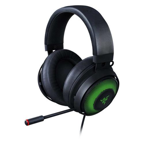 Гарнитура игровая RAZER Kraken Ultimate, для компьютера, мониторные, черный / зеленый [rz04-03180100-r3m1] гарнитура